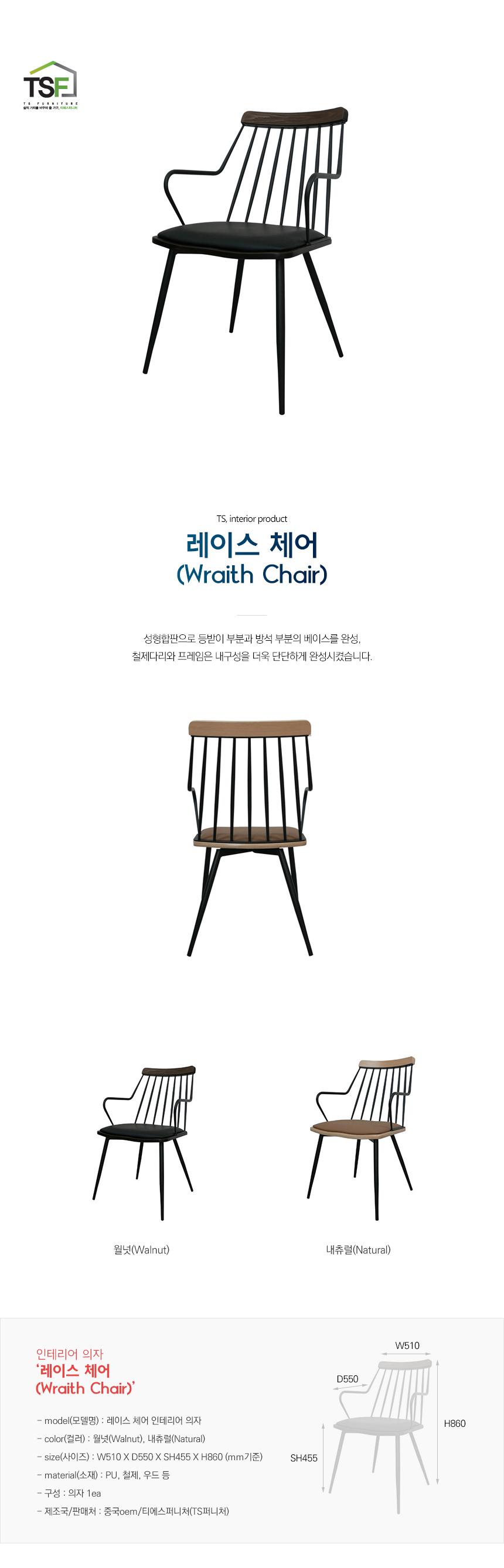 I 레이스 체어 인테리어 의자 - 주식회사 티에스퍼니처, 133,100원, 디자인 의자, 스틸의자